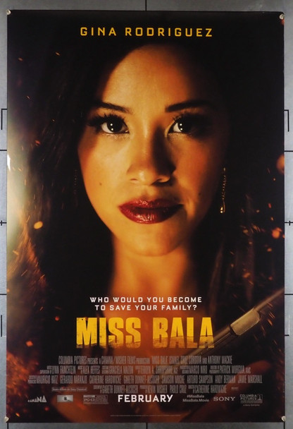 MISS BALA (2019) 28549 Columbia Pictures Original U.S. One-Sheet Poster (27x40) Rolled Very Fine
