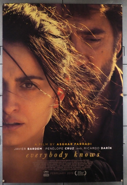 EVERYBODY KNOWS (2018) 28543 Universal PIctures Original U.S. One-Sheet Poster (27x40) Rolled  Fine Plus Condition