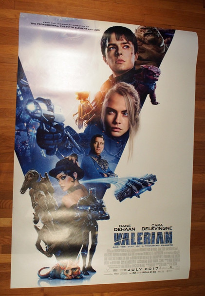 VALERIAN AND THE CITY OF A THOUSAND PLANETS (2017) 26963 STX Entertainment Original 48x70 Special Double Sided Poster  Very Fine Condition