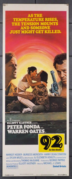 92 IN THE SHADE (1975) 28243   PETER FONDA   WARREN OATES United Artists Original U.S. 14x36 Poster  Never Folded  Very Fine Condition