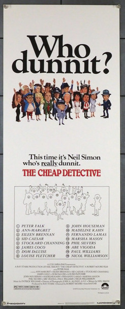 CHEAP DETECTIVE, THE (1978) 28252   PETER FALK Columbia Pictures Original Insert Poster  (14x36)  Very Fine Condition