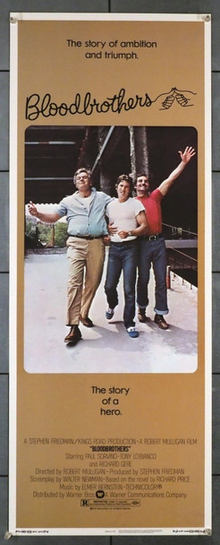 BLOODBROTHERS (1978) 28247  YOUNG RICHARD GERE Warner Brothers Original U.S. Insert Poster  (14x36)  Never Folded  Very Fine