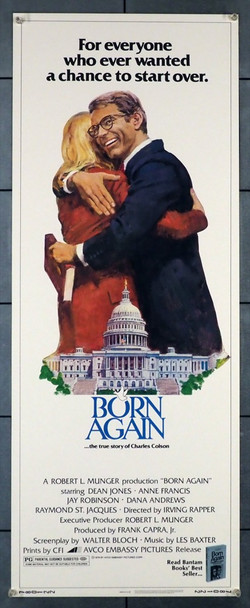 BORN AGAIN (1978) 28248 Avco Embassy Original U.S. Insert Poster  Never Folded  Very Fine