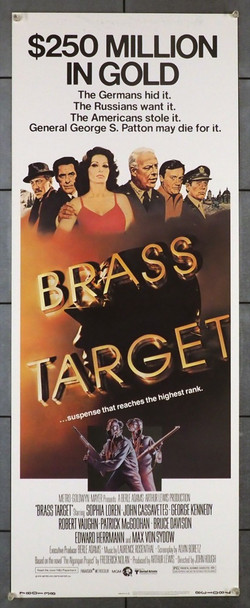 BRASS TARGET (1978) 28249 MGM Original U.S. Insert Poster (14x36)  Never Folded   Very Fine Condition