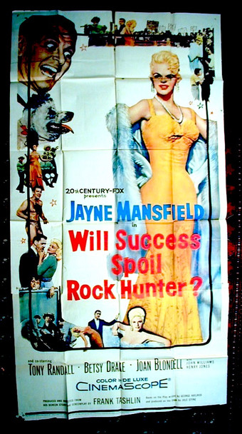 WILL SUCCESS SPOIL ROCK HUNTER? (1957) 10530 20th Century Fox Original Three-Sheet Poster (41x81) Good, Average Used, Condition  Folded
