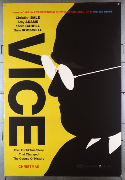 VICE (2018) 28464 Annapurna PIctures Original Advance One-Sheet Poster (27x40) Double Sided  Theater-Used