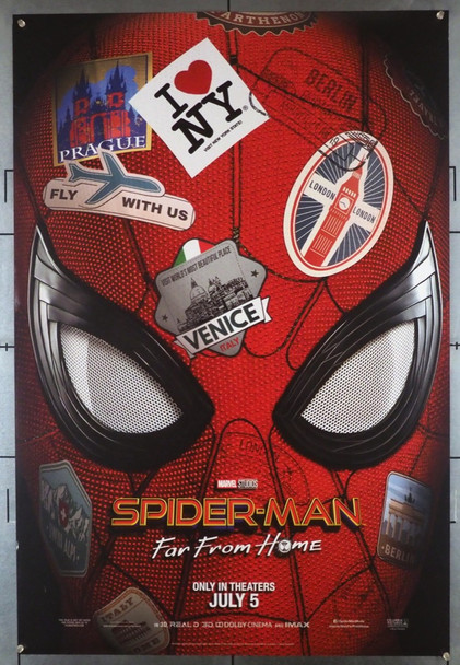 SPIDER-MAN: FAR FROM HOME (2019) 28463 Sony PIctures Original U.S. Teaser or Advance One-Sheet Poster (27x40) Double Sided  Fine Plus Condition
