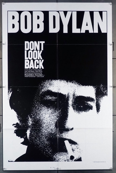 DON'T LOOK BACK (1967) 4208 Pennebaker Associates Original U.S. One-Sheet Poster (27x41)  Folded  Very Fine Plus Condition