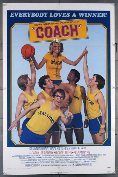 COACH (1978) 4017 Crown International Original U.S. One-Sheet Poster  (27x41)  Folded  Very Fine Condition