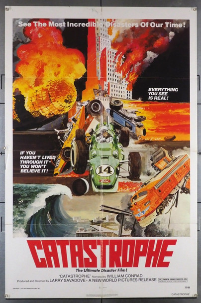 CATASTROPHE (1977) 4021 New World Pictures Original U.S. One-Sheet Poster (27x41) Folded  Fine Plus Condition