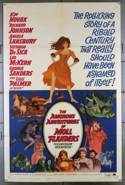 AMOROUS ADVENTURES OF MOLL FLANDERS, THE (1965) 4141 Paramount Pictures Original U.S. One-Sheet Poster (27x41) Folded  Very Fine Condition