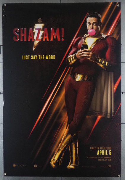 SHAZAM! (2019) 28461 Warner Brothers Original U.S. One-Sheet Poster (2019) Double Sided  Theater Used Very Good Condition