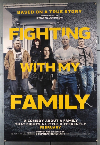 FIGHTING WITH MY FAMILY (2019) 28456 Lionsgate Original U.S. One-Sheet Poster (27x40) Double Sided  Rolled  Very Fine