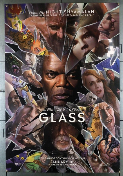 GLASS (2019) 28457 Universal PIctures Original U.S. One-Sheet Poster (27x40) Rolled Double Sided  Very Fine