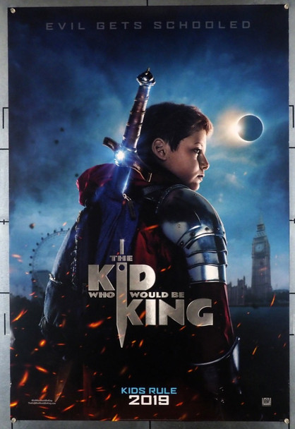 KID WHO WOULD BE KING, THE (2019) 28458 Fox Original U.S. One-Sheet Poster (27x40) Rolled Double-sided  Very Gently Used  Fine Condition