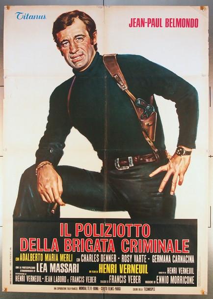 PEUR SUR LA VILLE (1975) 26791   JEAN-PAUL BELMONDO Original AMLF Italian 39x55  Folded   Very Good Plus Condition