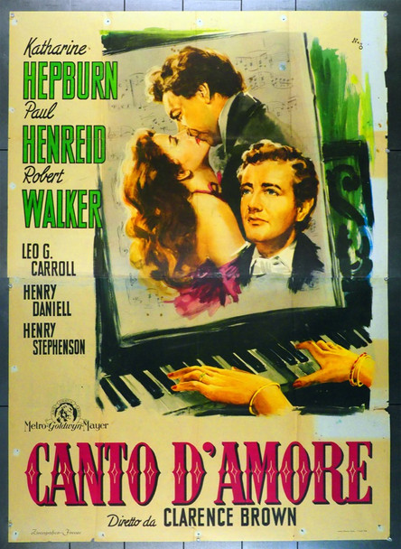 SONG OF LOVE (1947) 28573 MGM Original Italian Four Foglio Poster (79x55)  Folded  Theater-Used  Fine Condition