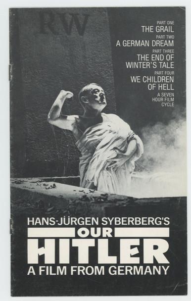 HITLER - EIN FILM AUS DEUTSCHLAND (1977) 8406 American Zoetrope Premier Program from 1980  OUR HITLER (1977) Hans-Jurgen Syberberg