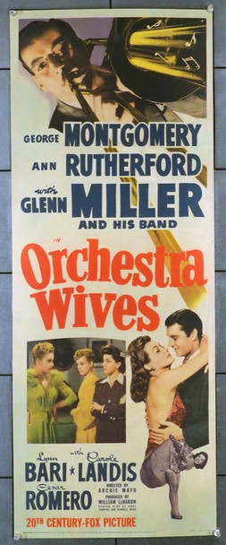 ORCHESTRA WIVES (1942) 14799 20th Century Fox Original Insert Poster (14x36) Restored  Very Good Plus Condition