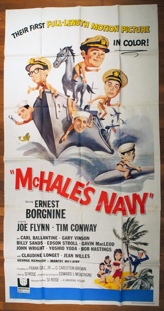 MCHALE'S NAVY (1964) 10416 Universal Pictures Original U.S. Three-Sheet Poster (41x81) Folded  Very Fine Condition