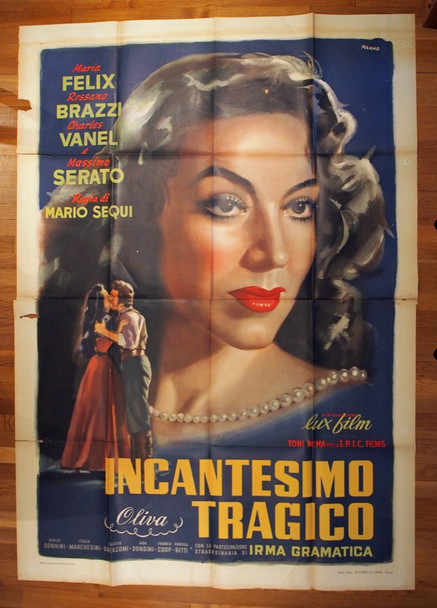INCANTESIMO TRAGICO (1951) 28475 Lux Film Original Italian 79x55 Four Foglio Poster  Folded  Very Good Plus Condition