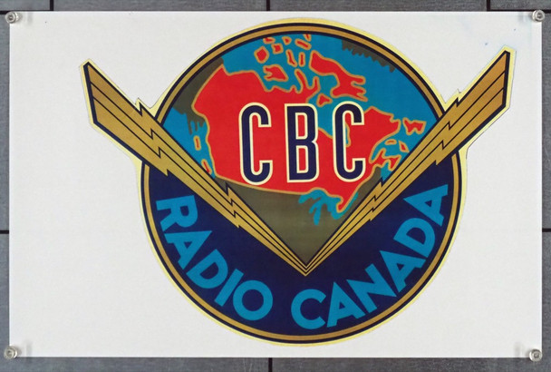 RADIO CANADA () 28589 Canadian Print of Radio Canada Decal   Very Fine Condition