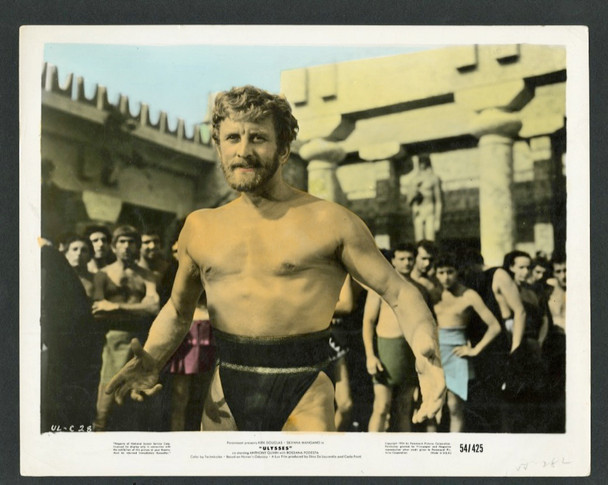 ULYSSES (1954) 28604 Paramount Pictures Hand-Tinted Color Photograph (8x10)  Kirk Douglas as Ulysses  Very Fine Plus