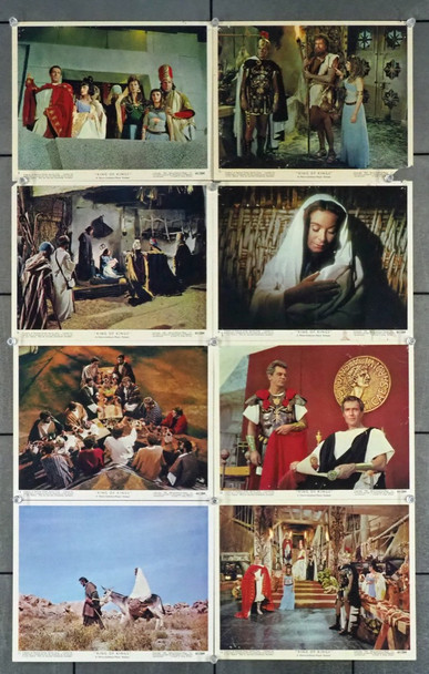 KING OF KINGS (1961) 22568 MGM Original British Front-Of-House Cards (8)  Theater-Used  Fair to Good Condition