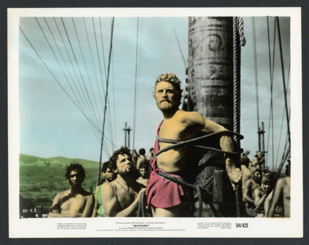ULYSSES (1954) 28601  KIRK DOUGLAS as ULYSSES Paramount Pictures Original Hand Tinted 8x10 Gelatin Silver Print  Very Fine Condition