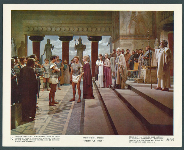 HELEN OF TROY (1956) 28598 Warner Brothers Original 8x10 Color Lithograph  Very Fine Condition