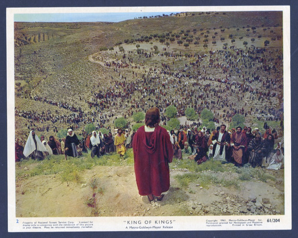 KING OF KINGS (1961) 28606   JEFFREY HUNTER AS JESUS MGM British Original Front Of House Card (8x10) Fine Plus Condition