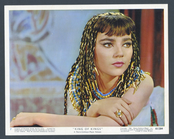 KING OF KINGS (1961) 28607   BRIGID BAZLEN AS SALOME MGM Original British Front of House Card No 7  (8x10)  Very Fine Plus Condition
