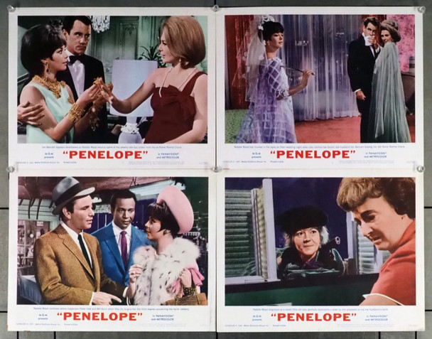 PENELOPE (1966) 4361     NATALIE WOOD MGM Original Lobby Cards   Four 11x14 Scene Cards  Very Fine Condition