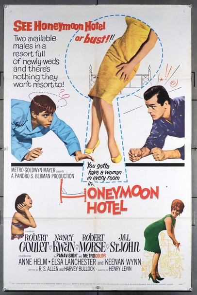 HONEYMOON HOTEL (1964) 11491 MGM Original U.S. One-Sheet Poster (27x41) Folded Fine Condition