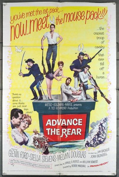 ADVANCE TO THE REAR (1964) 11498 MGM Original U.S. One-Sheet Poster (27x41) Folded  Average Used Condition