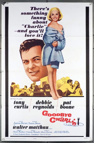 GOODBYE CHARLIE (1964) 11495 20th Century Fox Original U.S. One-Sheet Poster (27x41) Folded  Very Good Plus Condition