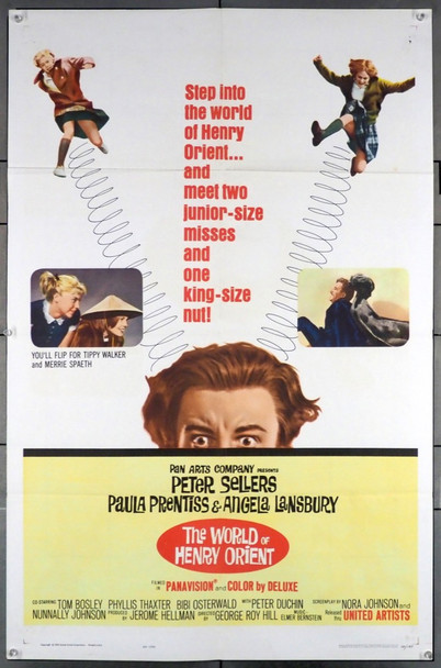 WORLD OF HENRY ORIENT, THE (1964) 11493 United Artists Original U.S. One-Sheet Poster (27x41) Folded  Very Fine Condition