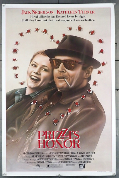 PRIZZI'S HONOR (1985) 53    GOLDEN GLOBE BEST PICTURE  JACK NICHOLSON 20th Century Fox Original U.S. One-Sheet Poster (27x41) Rolled  Very Fine Condition