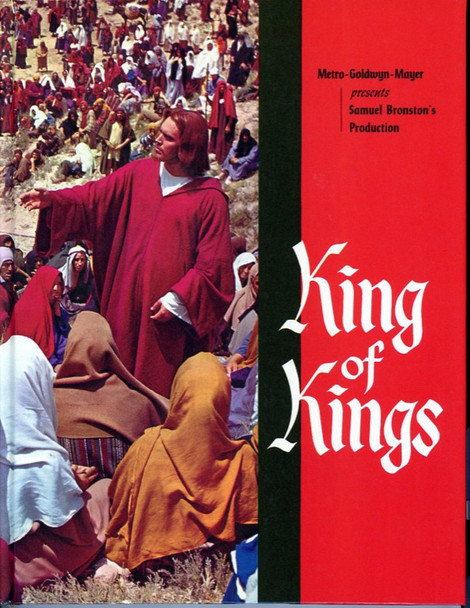 KING OF KINGS (1961) 22569 MGM Original Program Booklet (8x10) Hardback Cover Plus Four Color Photographs