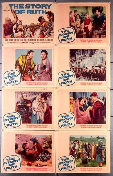 STORY OF RUTH, THE (1960) 16702 20th Century Fox Original Lobby Card Set  Eight 11x14 Cards   Very Good Plus Condition