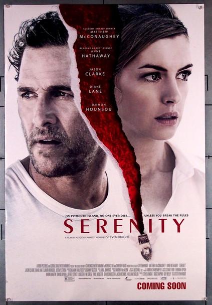 SERENITY (2019) 28586   MATTHEW MCCONAUGHEY   ANNE HATHAWAY Aviron Pictures Original U.S. ADVANCE One-Sheet Poster (27x40)  Rolled  Very Fine