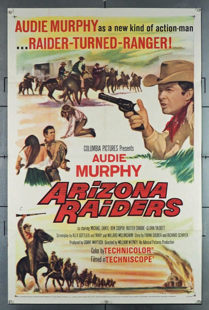 ARIZONA RAIDERS (1965) 28618 Columbia Pictures Original U.S. One-Sheet Poster (27x41) Folded  Very Fine Plus to Near Mint Condition