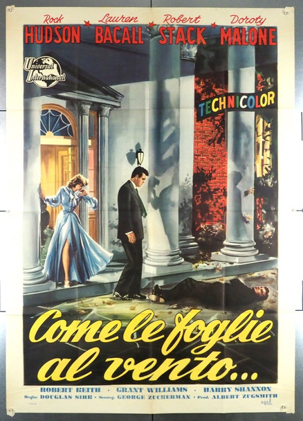 WRITTEN ON THE WIND (1956) 28615   DIRECTED BY DOUGLAS SIRK Universall PIctures Original Italian 39x55 Poster  Folded  Very Fine Condition