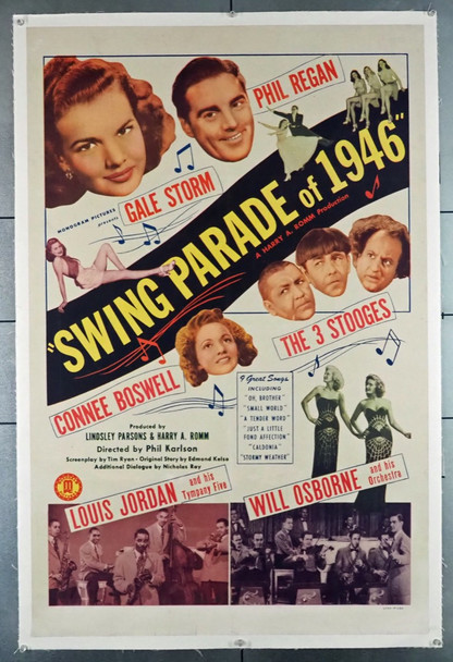 SWING PARADE OF 1946 (1946) 21795 Monogram PIctures U.S. One-Sheet Poster (27x41) Linen Backed  Fine Condition