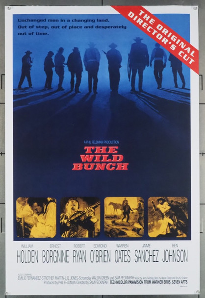 WILD BUNCH, THE (1969) 19632 Warner Brothers Original U.S. Re-release One Sheet from 1995  (27x41)  Rolled