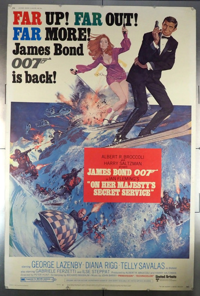 ON HER MAJESTY'S SECRET SERVICE (1970) 28632 United Artists Original 40x60 Poster  Rolled  Theater-used Condition  Graded as Very Good