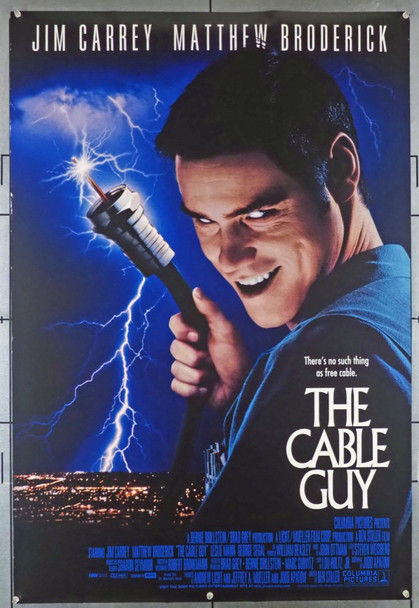 CABLE GUY, THE (1996) 6898 Columbia PIctures Original U.S. One-Sheet Poster  (27x41)  Double Sided  Fine Plus Condition