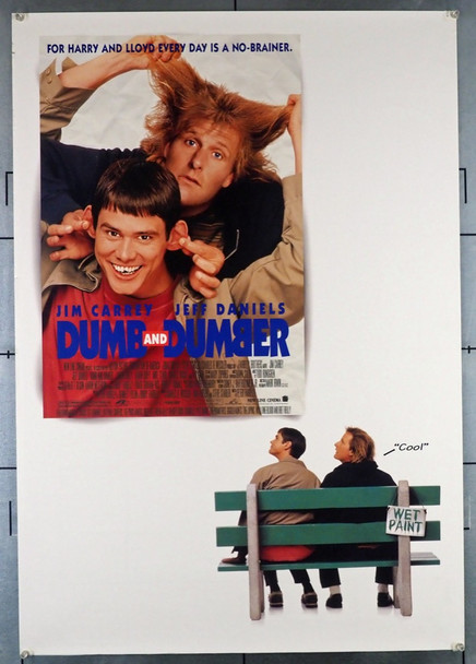 DUMB AND DUMBER (1994) 22255 New Line Cinema Original U.S. One-Sheet Poster (27x41)  Double-Sided  Very Fine Condition