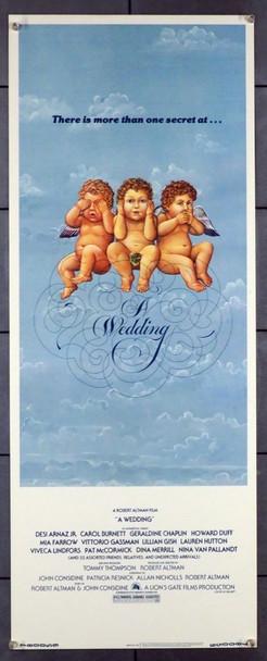 WEDDING, A (1978) 28293   ROBERT ALTMAN   ART BY RICHARD HESS 20th Century Fox Original U.S. Insert Poster (14x36)  Very Fine Condition