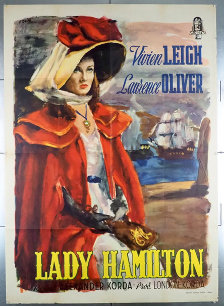 THAT HAMILTON WOMAN (1941) 28613  (LADY HAMILTON)  VIVIEN LEIGH United Artists Original Italian 39x55 Poster  Folded  Fine Plus to Very Fine
